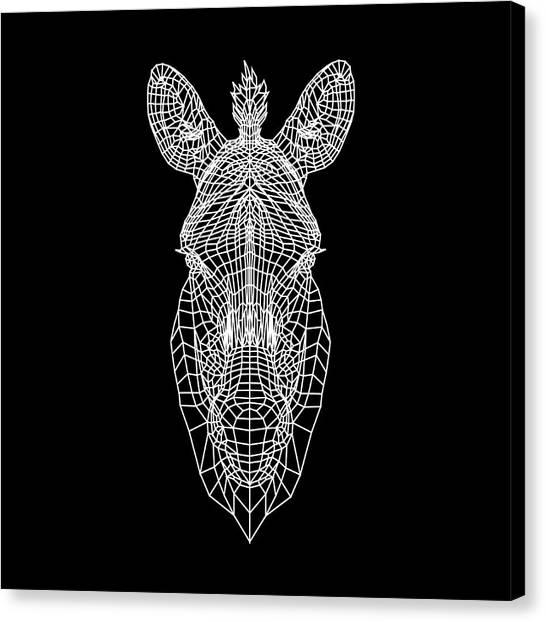 Lynx Canvas Print - Zebra Mesh by Naxart Studio