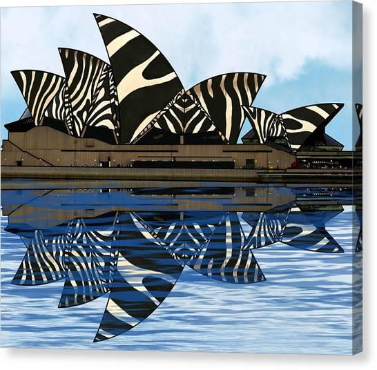 Zebra Opera House 4 Canvas Print