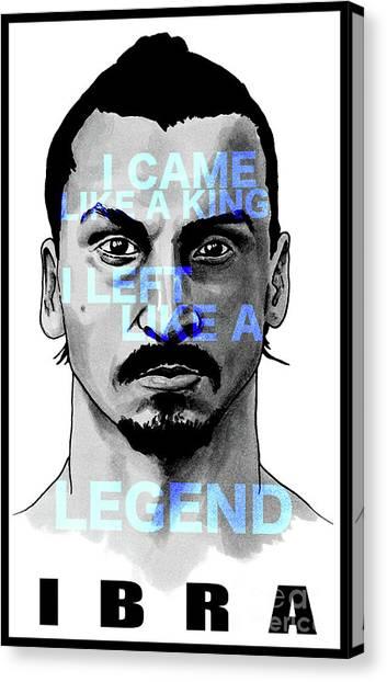 Zlatan Ibrahimovic Canvas Print - Zlatan Ibrahimovic by Carles Mob