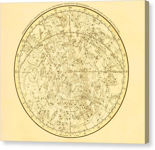 Zodiac Map Canvas Print