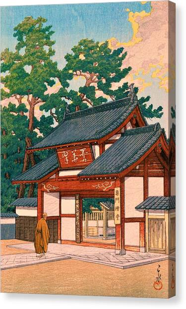 Priests Canvas Print - Zuizenji - Top Quality Image Edition by Kawase Hasui