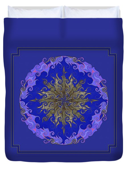Duvet Cover featuring the photograph .  . Cosmic Dance .  . by I'ina Van Lawick