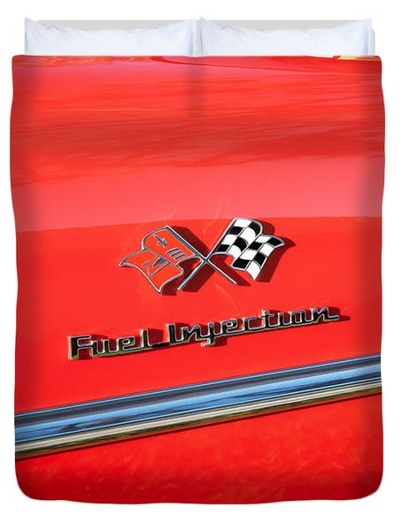 1957 Chevrolet Bel Air 283 Fuel Injected Painted  Duvet Cover