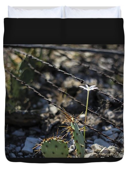 A Flower Among Thorns Duvet Cover