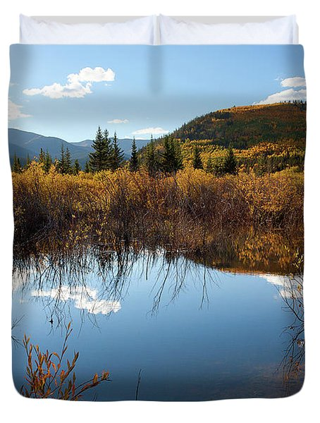 A Reflection Of Fall Duvet Cover by Jim Garrison