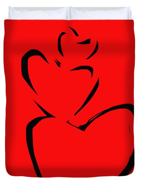 A Stack Of Hearts Duvet Cover