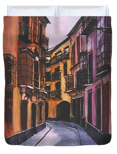 A Street In Seville Spain Duvet Cover