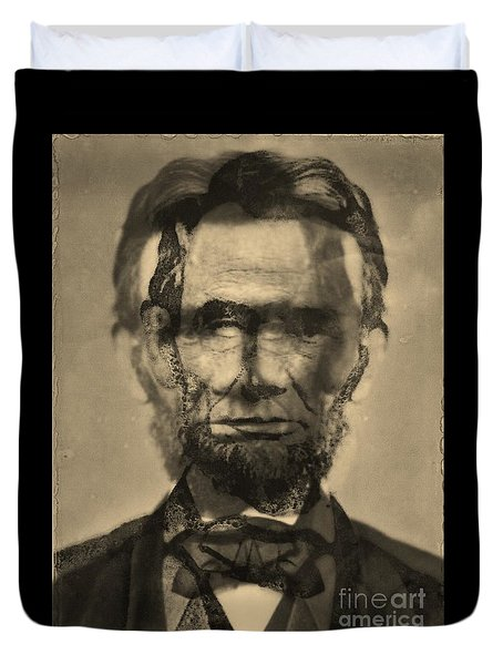 Abraham Lincoln Duvet Cover by Michael Kulick