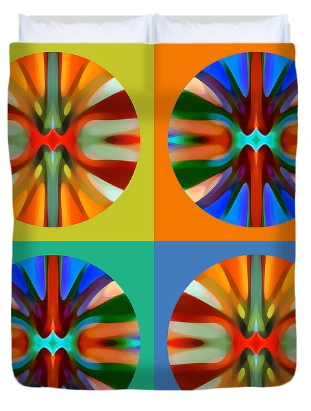 Abstract Circles And Squares 2 Duvet Cover by Amy Vangsgard