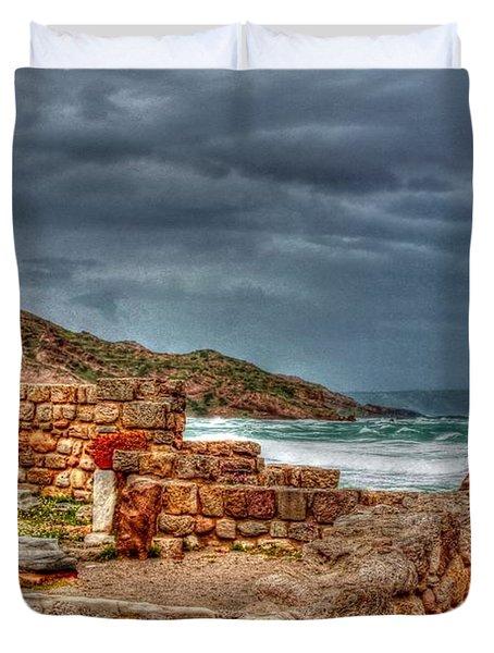Ancient Ruins In Kefalos Kos Greece Duvet Cover