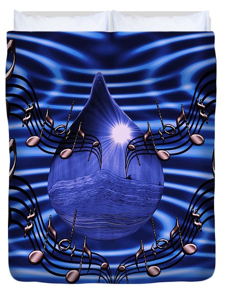 Angelic Sounds On The Waves Duvet Cover by Barbara St Jean