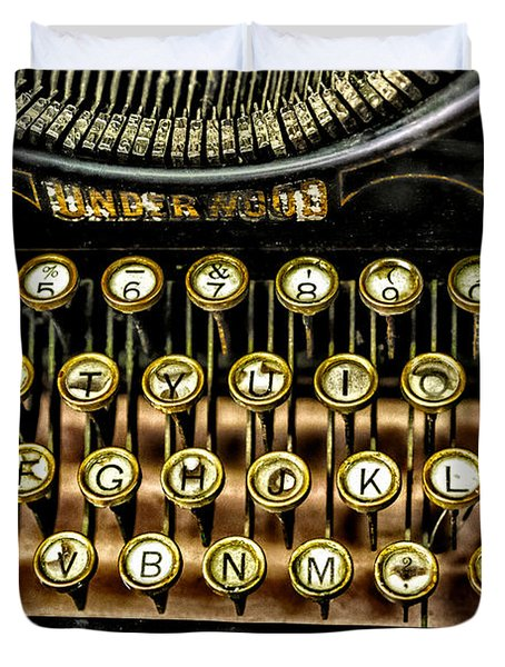 Antique Keyboard Duvet Cover by Christopher Holmes