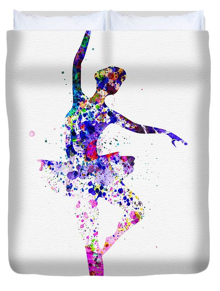 Ballerina Dancing Watercolor 2 Duvet Cover