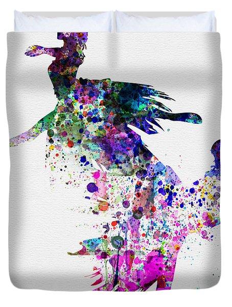 Ballet Watercolor 3 Duvet Cover