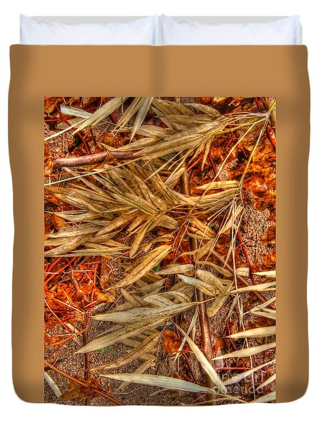 Bamboo Leaves Duvet Cover by Michelle Meenawong
