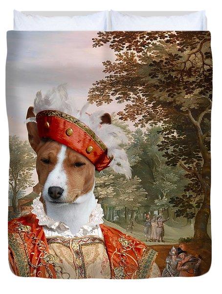 Basenji Art Canvas Print Duvet Cover