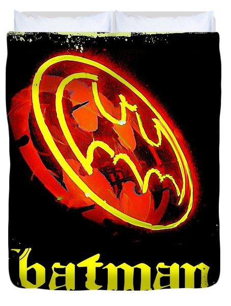 Batman In Halifax Duvet Cover by John Malone