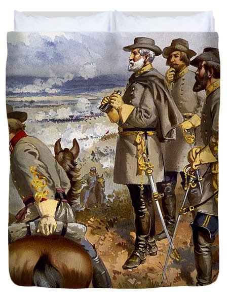 Battle Of Fredericksburg Duvet Cover by American School