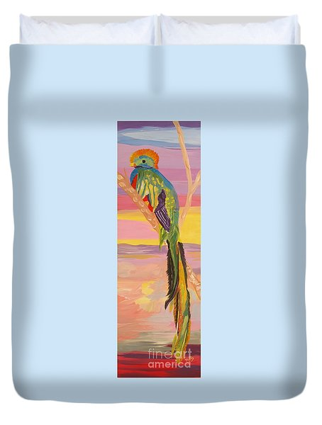 Beautiful Bird Quetzal Must Open  Duvet Cover