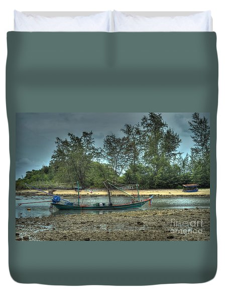 Duvet Cover featuring the photograph  Before Storm by Michelle Meenawong