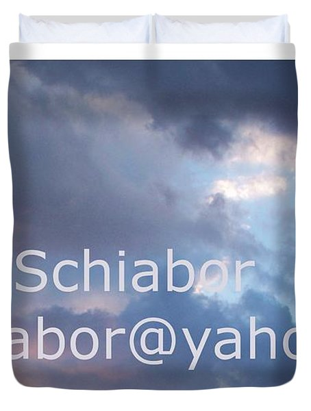Blue And Purple Parting Clouds Print Duvet Cover by Eric  Schiabor