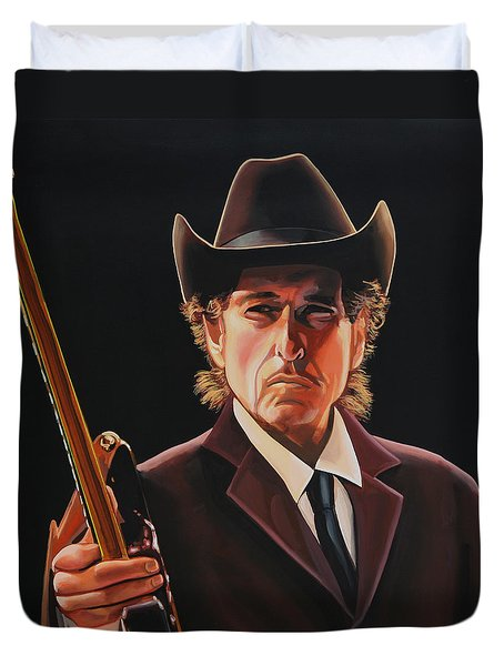 Bob Dylan 2 Duvet Cover by Paul Meijering