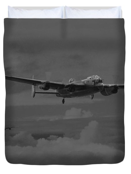 Bomber's Moon Duvet Cover by Pat Speirs
