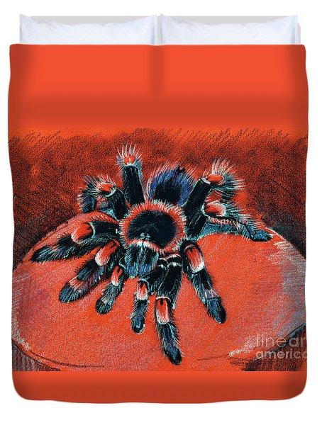 Brachypelma Smithi Redknee Tarantula  Duvet Cover