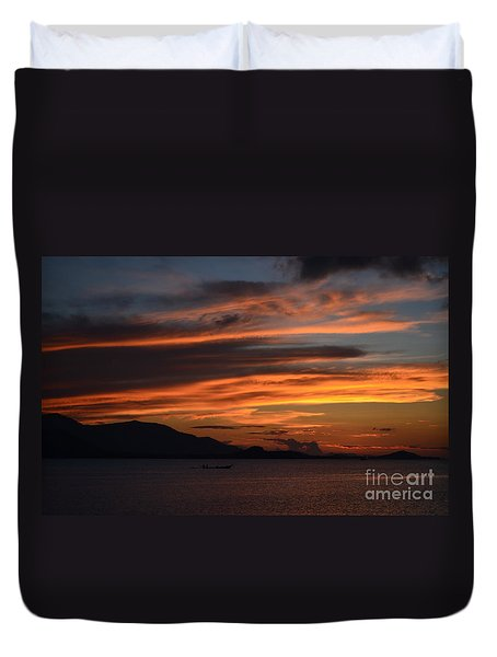 Burning Sky Duvet Cover by Michelle Meenawong