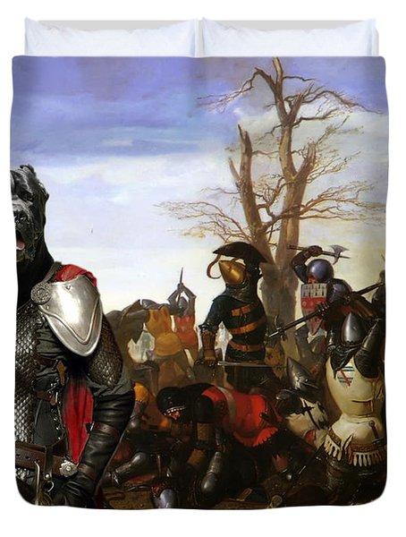 Cane Corso Art Canvas Print - Swords And Bravery Duvet Cover