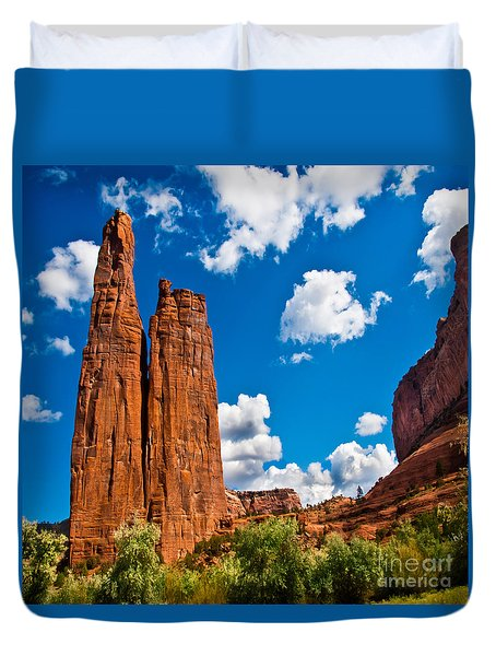 Canyon De Chelly Spider Rock Duvet Cover