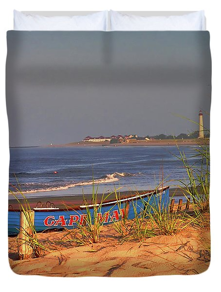 Cape May Beach Duvet Cover by Nick Zelinsky