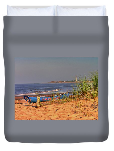 Cape May Beach Duvet Cover