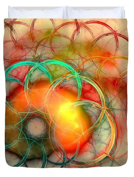 Chain Of Events Duvet Cover by Anastasiya Malakhova