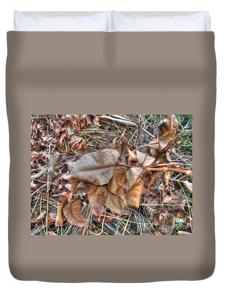 Duvet Cover featuring the photograph  Dead Leaves by Michelle Meenawong