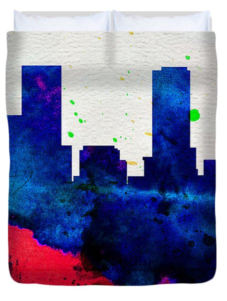 Denver City Skyline Duvet Cover
