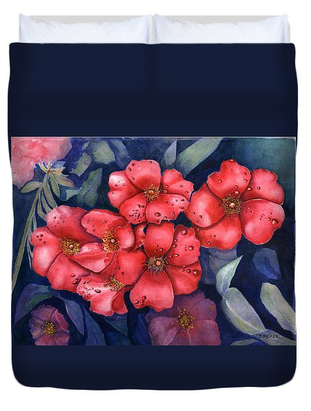 Dew Flowers Duvet Cover