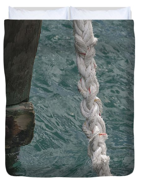Dock Rope And Wood Duvet Cover