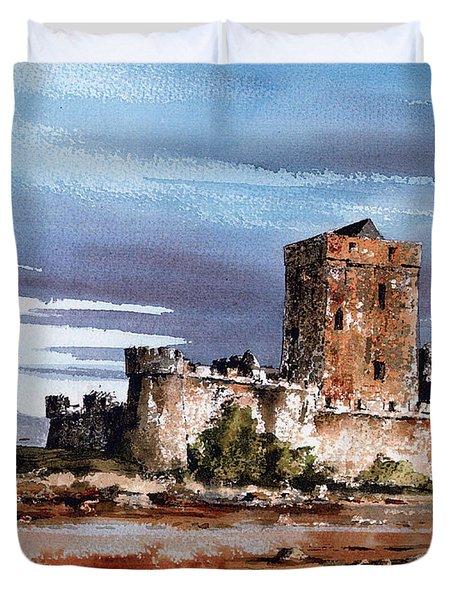 Doe Castle In Donegal Duvet Cover