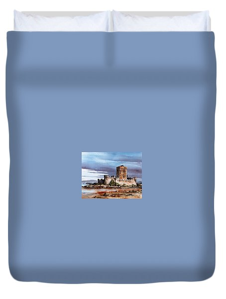 Doe Castle In Donegal Duvet Cover