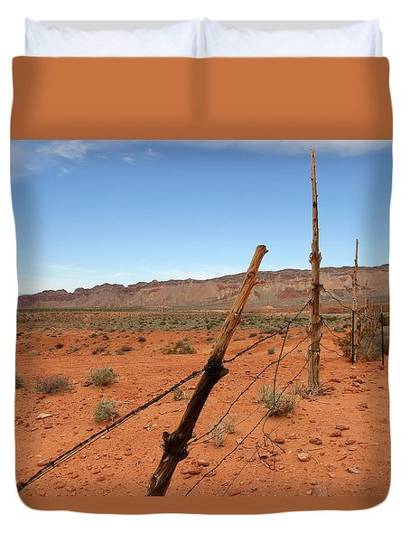 Duvet Cover featuring the photograph  Don't Fence Me In by Tammy Espino