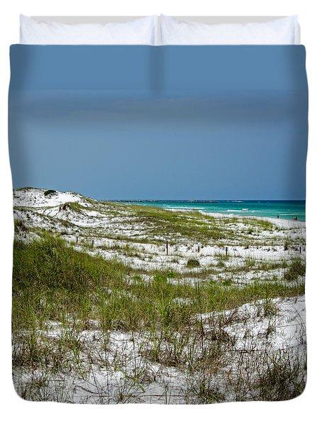 Duvet Cover featuring the photograph  Dunes    Panama City Beach  by Susan  McMenamin