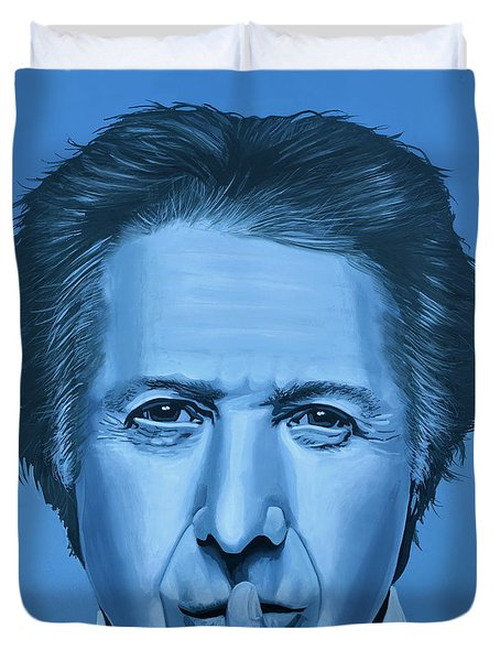 Dustin Hoffman Painting Duvet Cover