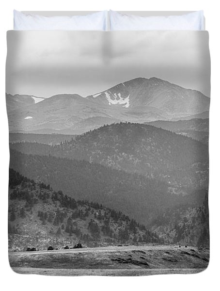 Eldorado Canyon And Continental Divide Above Bw Duvet Cover by James BO  Insogna