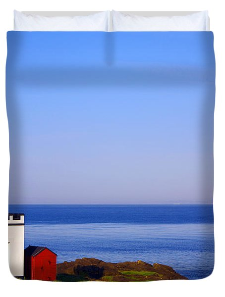 Elie Lighthouse Duvet Cover