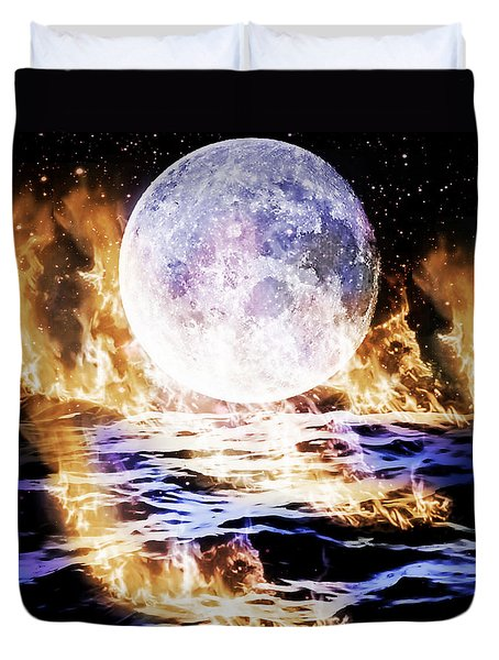 Emotions On Fire Duvet Cover