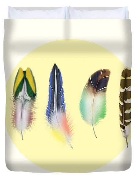 Feathers 2 Duvet Cover by Mark Ashkenazi
