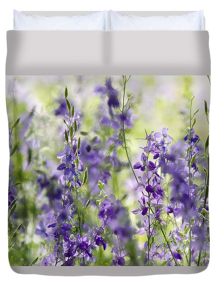 Fields Of Lavender  Duvet Cover by Saija  Lehtonen