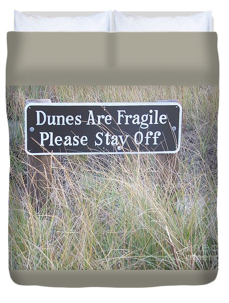 Duvet Cover featuring the photograph Sand Dune  by Eunice Miller