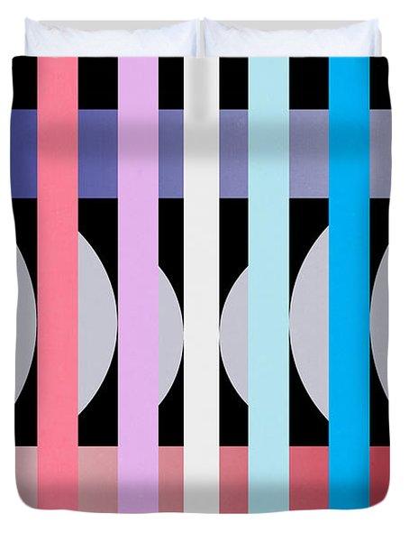 Fun Geometric  Duvet Cover by Mark Ashkenazi